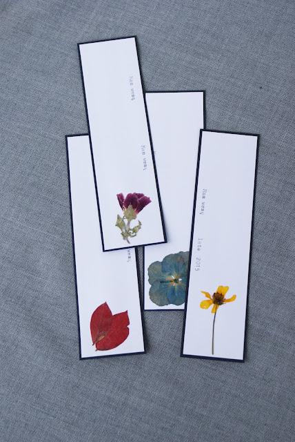 zakładki, suszone rosliny, suszone kwiaty