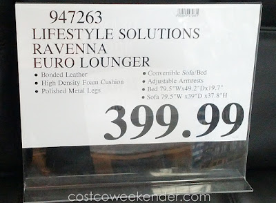Deal for the Lifestyle Solutions Ravenna Euro Lounger at Costco