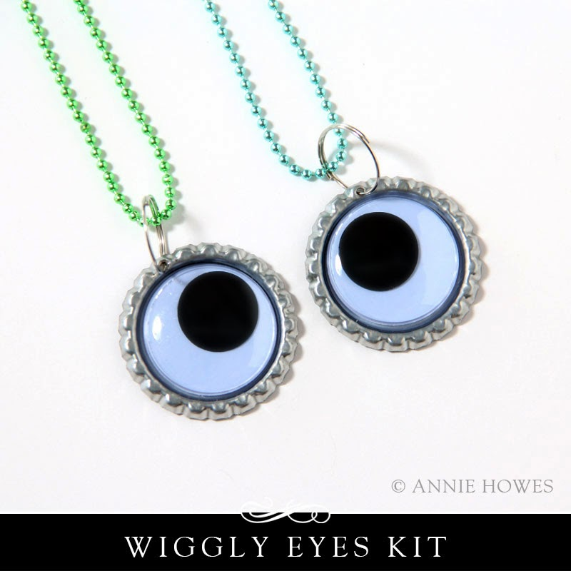 Make 5 Wiggly Eyes Necklaces