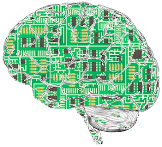 cerebro con chips para aprender inglés