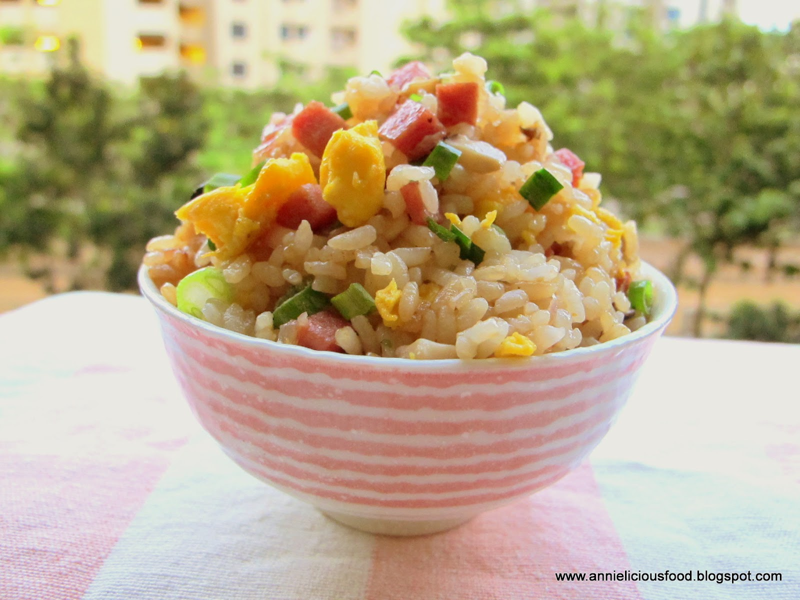 Annielicious Food: SPAM Fried Rice (Using Koshihikari Rice)