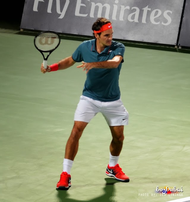 Photos: Roger Federer wins 2014 Dubai Duty Free Tennis Championship
