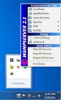 SCreenShoot Wamp Server