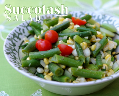 Succotash Salad Recipe with Green Beans, Lima Beans, Corn & Tomatoes