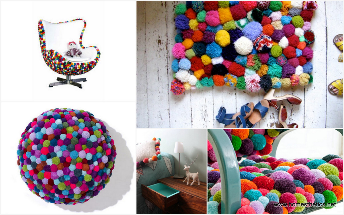 Cute colorful diy pom pom crafts and ideas idees and for Cute pom pom crafts