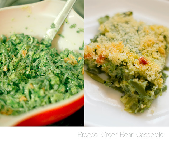 Broccoli green bean casserole