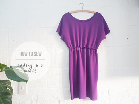 How to sew - adding an elastic waist to a dress
