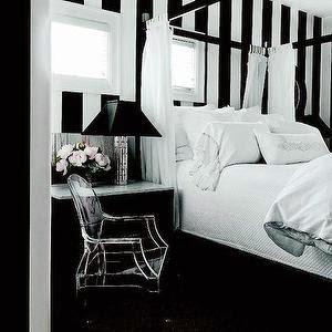 desain ruang tidur bernuansa hitam putih