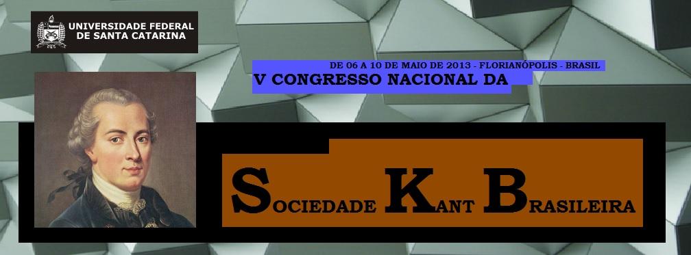 V Congresso Nacional da Sociedade Kant Brasileira