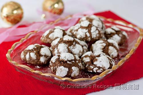 朱古力裂紋曲奇餅 Chocolate Crackle Cookies02