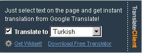 Soldan açılır-kapanır Google Translator