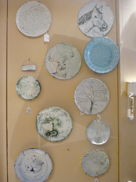 Buddug enamel plates on display
