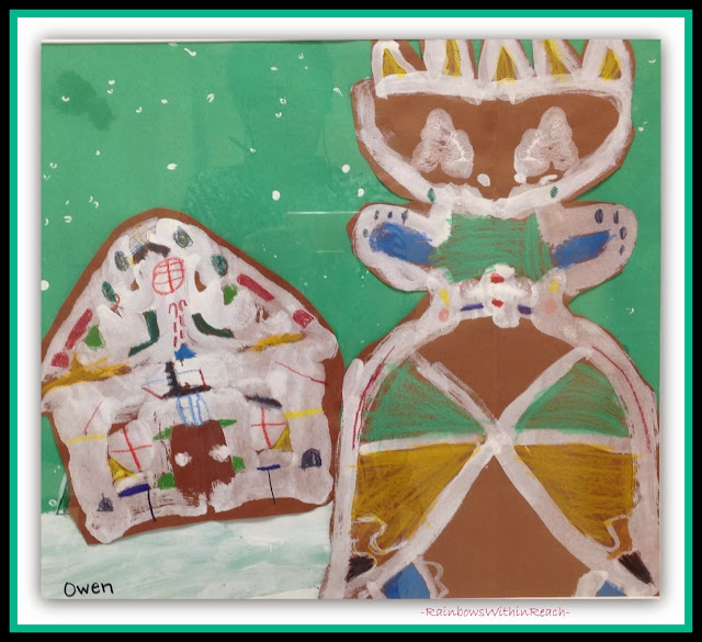 Early Elementary Seasonal Gingerbread Paintings via RainbowsWithinReach