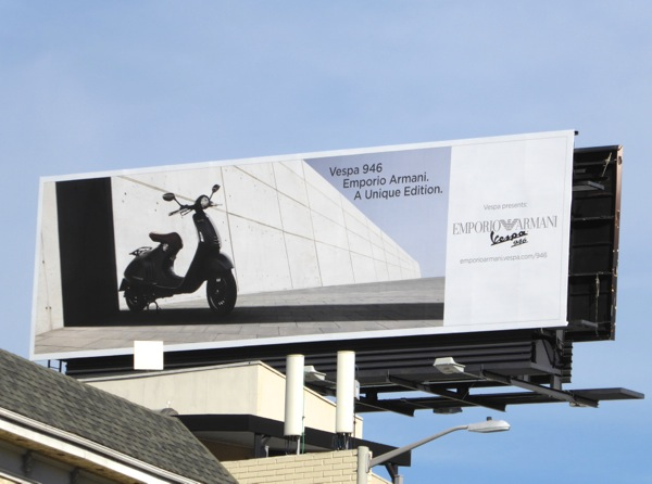 Emporio Armani Vespa 946 billboard