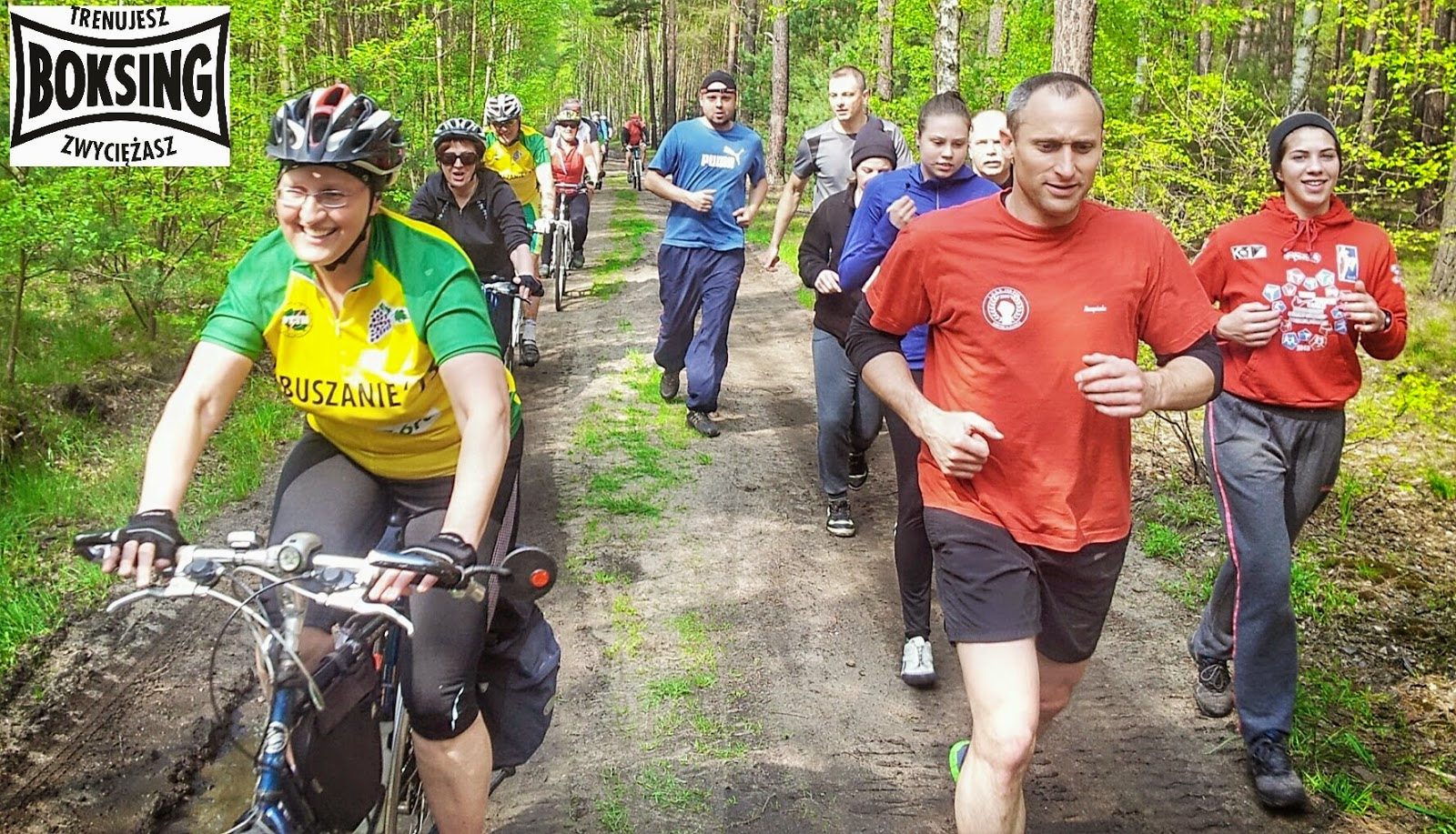 trening, rowery, seniorzy, dorośli, kultura fizyczna, bieganie, sport, Boksing