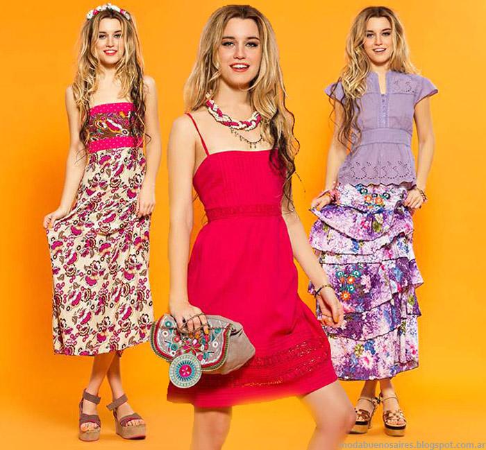 MODA VERANO 2015. Looks de estilo bohemio by Sophya: vestidos, faldas y túnicas verano 2015.