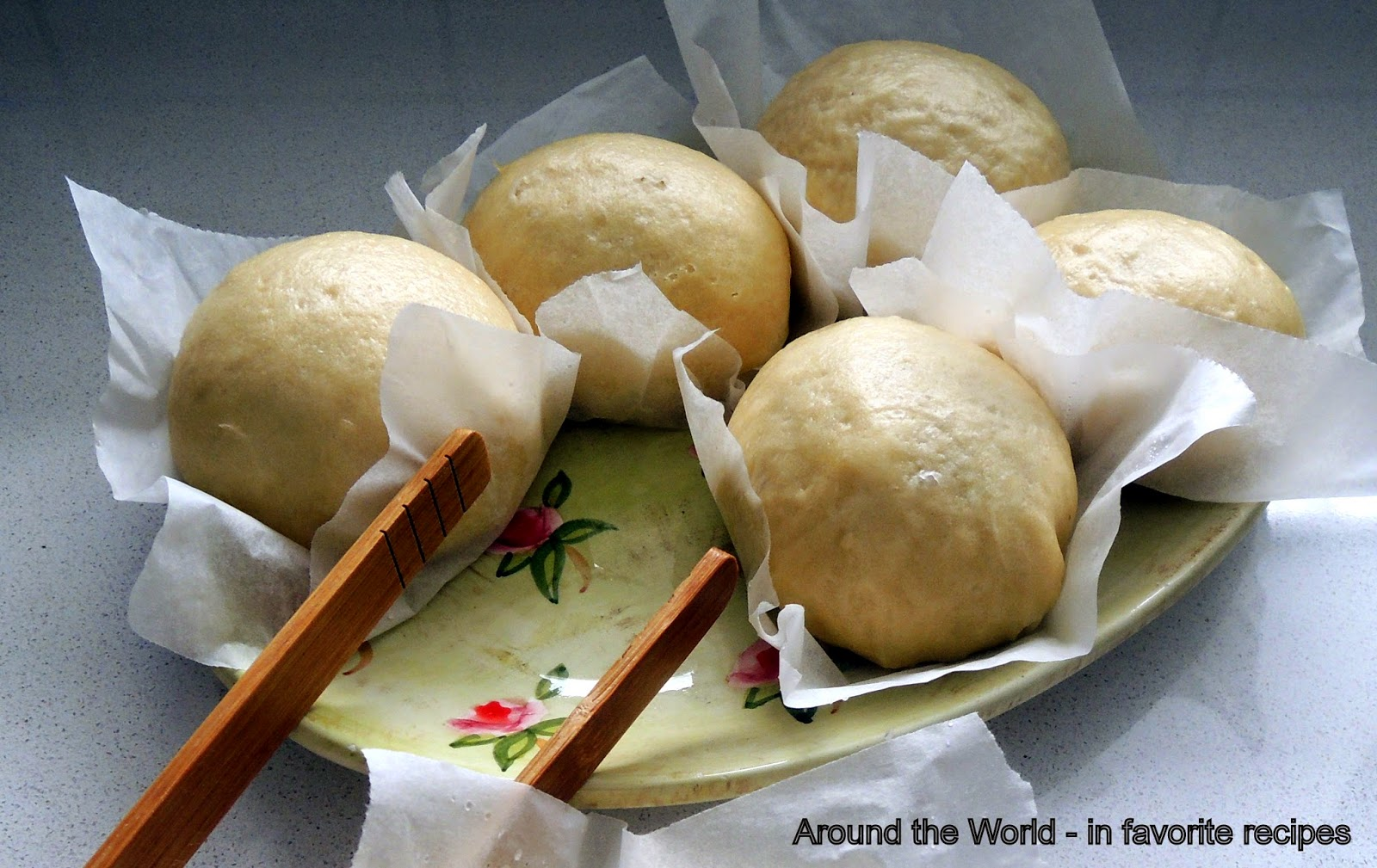 Around the World - in favorite recipes: Steamed Pork Buns ...
