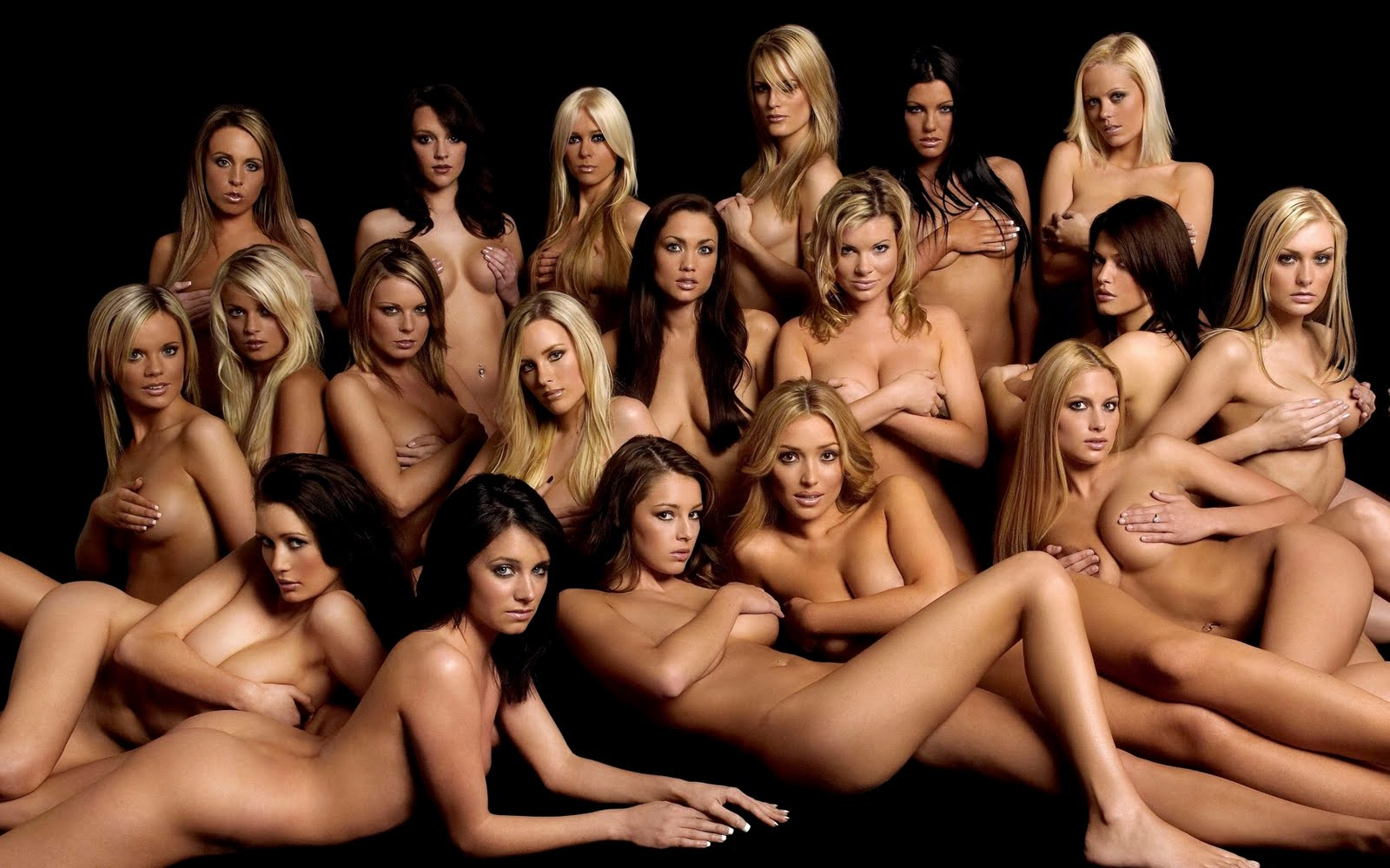 Girl Group Of Naked Women