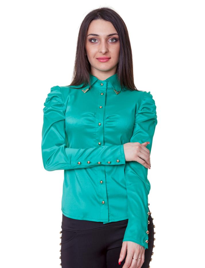 Темно Зеленая Блузка Доставка
