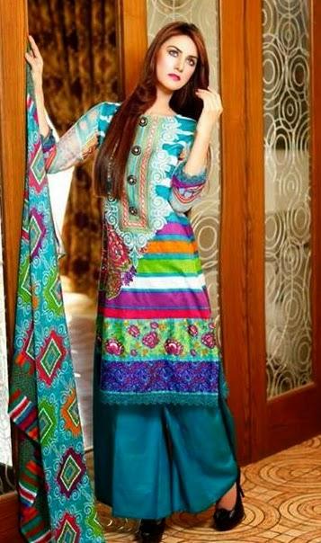 Ajwa Marjan Lawn Eid 2014