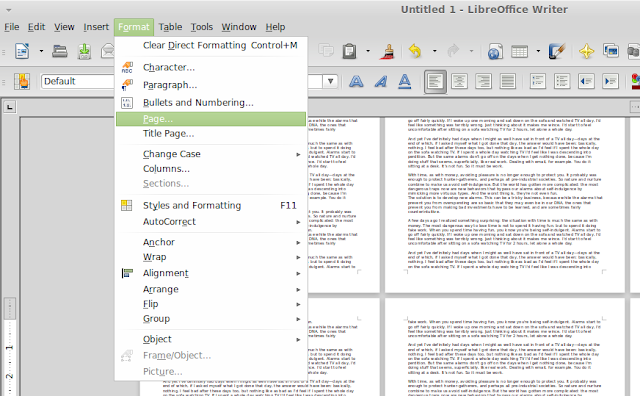 add watermark LibreOffice