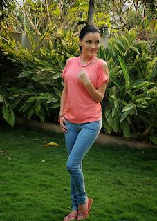 Australian Bollywood Actress Kristina Akheeva Picturet Gallery in Denim Jeans  30