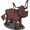 FarmVille Ankole Longhorn Cow
