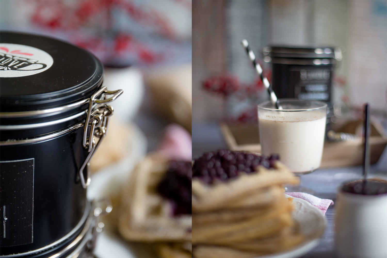 spekulatius chai waffeln mit hei en gl hwein beeren als perfektes winterdessert f r besonders. Black Bedroom Furniture Sets. Home Design Ideas