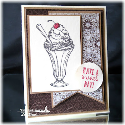 North Coast Creations Stamp set: Ice Cream, Our Daily Bread Designs Vintage Ephemera Paper Collection