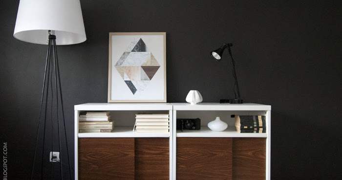 Ikea besta mid century modern cabinet hack petite apartment for Petites baignoires ikea