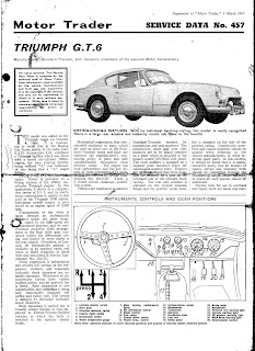 Front page of Triumph GT6 Motor Trader 457 1 March 1967