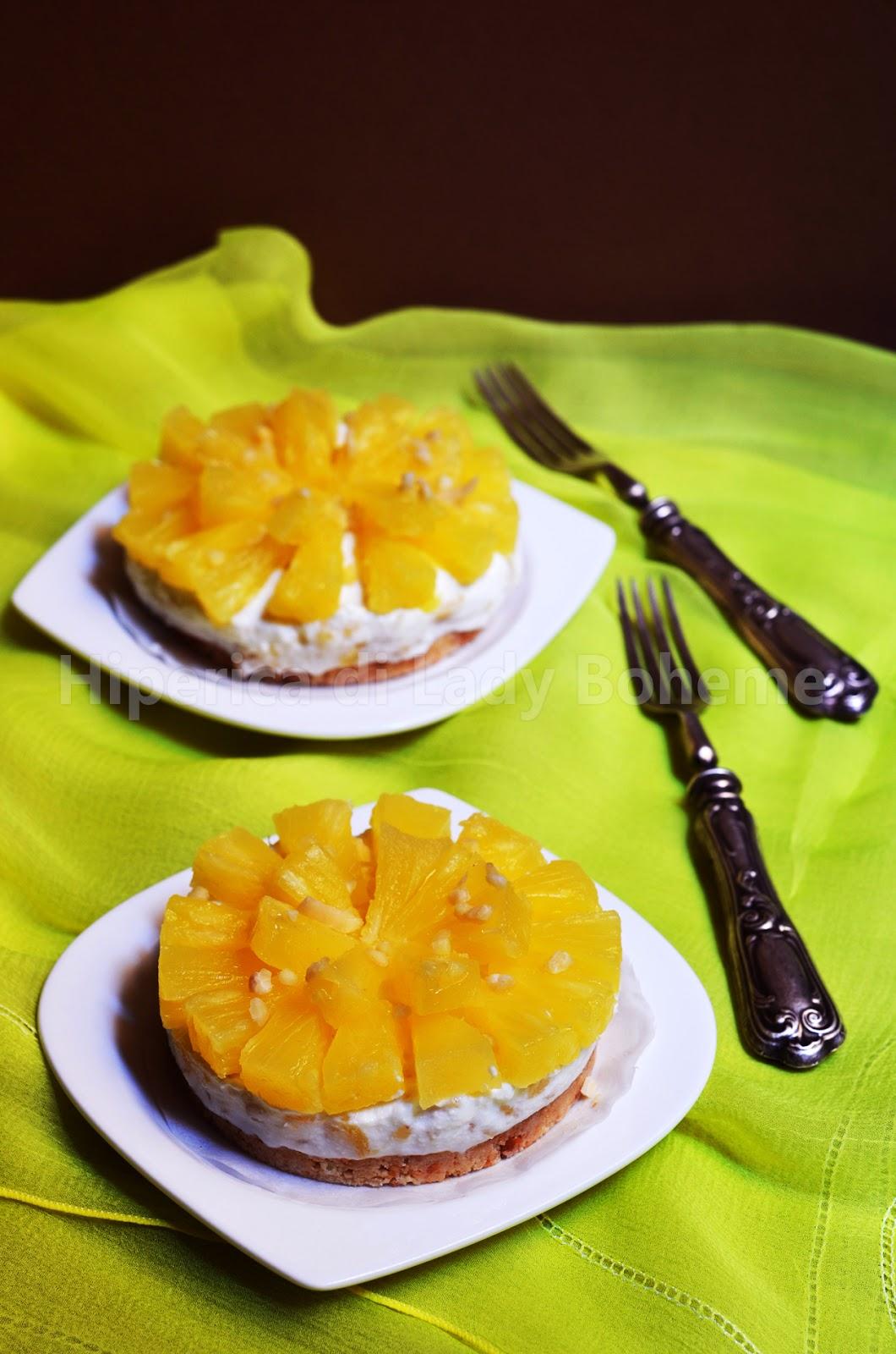 ricetta mini cheesecake senza cottura alla ricotta e ananas