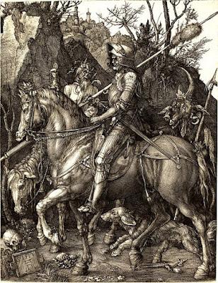 Albrecht Dürer -  Le chevalier,la mort et le diable