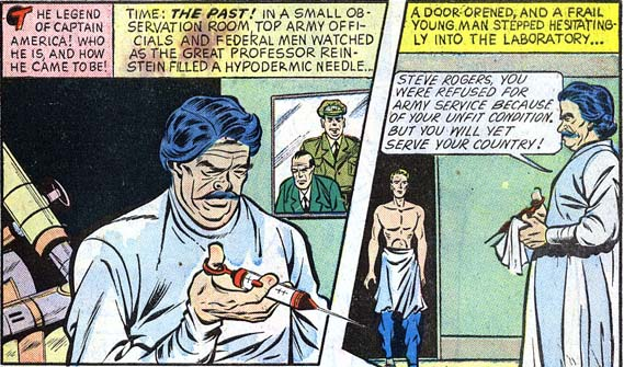 Captain America 59 caption: The Legend of Captain America! Who He Is, and How He Came to Be
