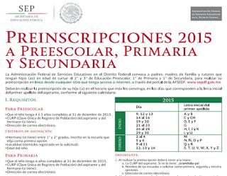 ... Primaria, Secundaria, Preescolar, SEP DF 2015-2016 ~ EXAMENDEACCESO