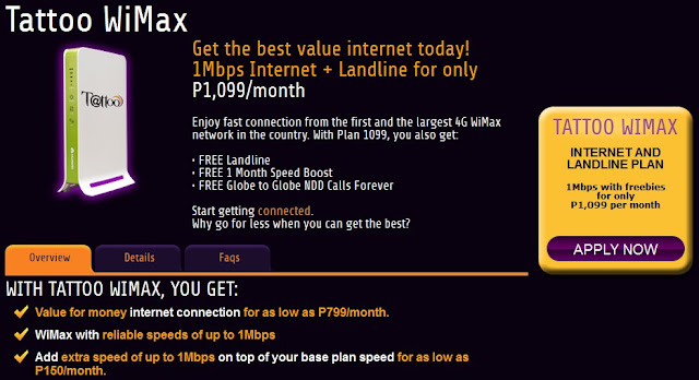 globe broadband dsl tattoo wimax subscription rates prices promo internet landline hotline telephone number image