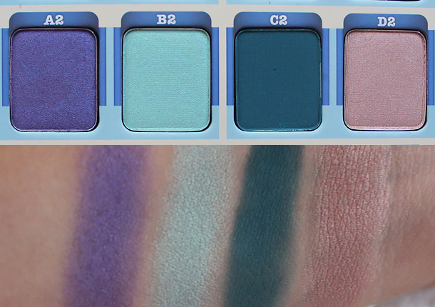 the balm voyage palette eyeshadow swatches