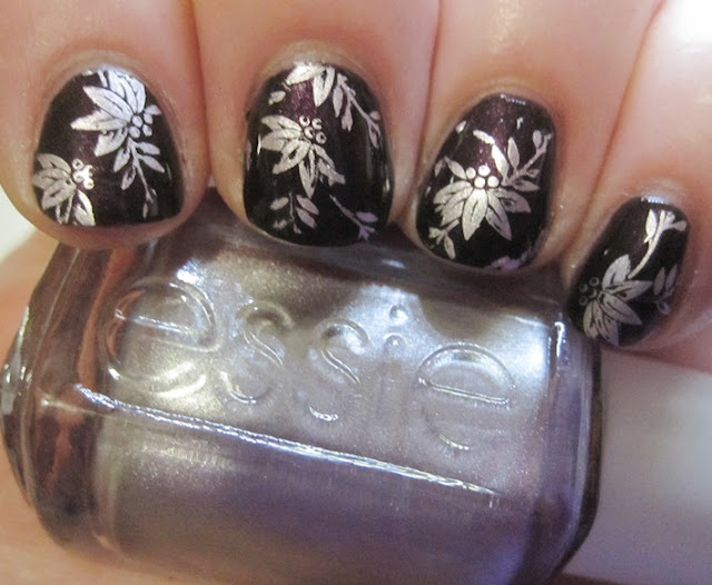 Essie Nothing Else Metals over OPI Black Tie Optional