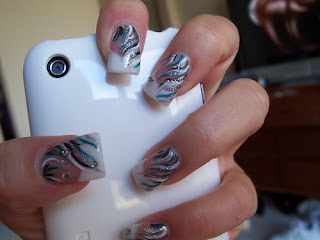Maniac Rokok Nail Art Designs With French Manicure