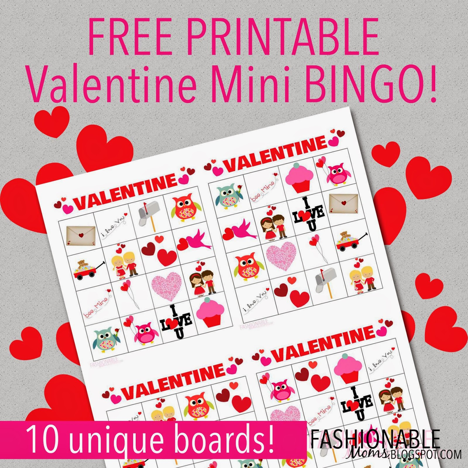 photo relating to Printable Valentine Bingo Cards titled My Present day Ideas: Totally free Printable: Valentine Mini Bingo!
