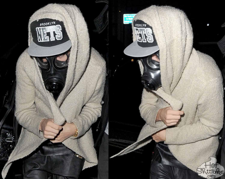 Justin Bieber Gas Mask