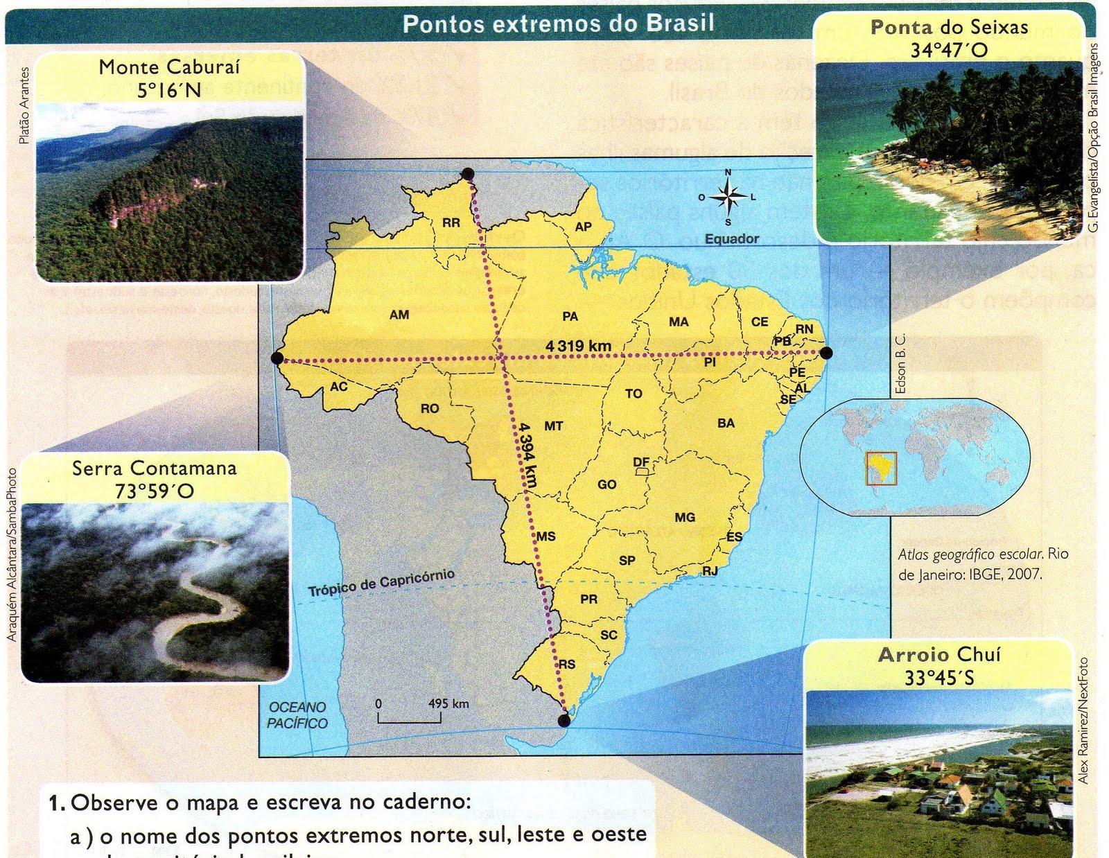 Resultado de imagem para pontos extremos do brasil