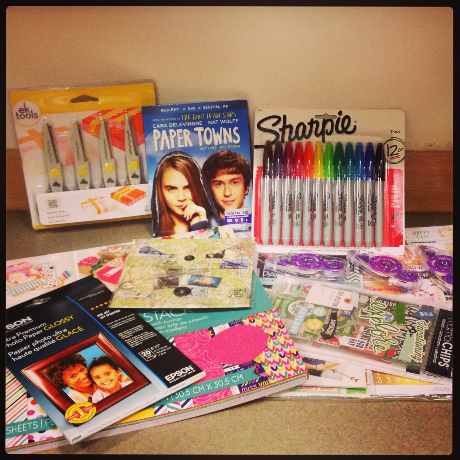 How to make scrapbook at home - Fox Home Insiders Sent An Amazing Scrapbook Package Perfect For A Paper Towns Party It Featured Travel Themed Embellishments Paper In Gorgeous Colors