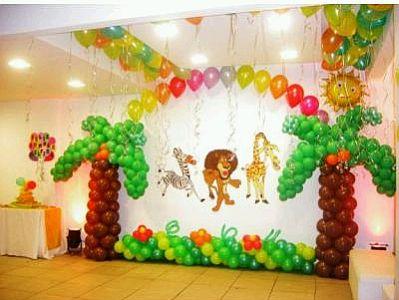 Decoraci n de paredes con globos parte 2 - Telas con motivos infantiles ...