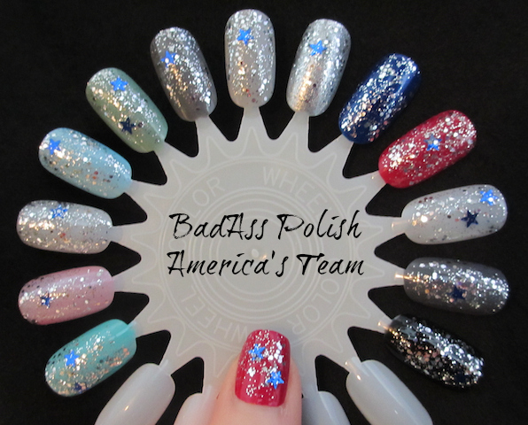 BadAss Polish Americas Team Swatch Wheel