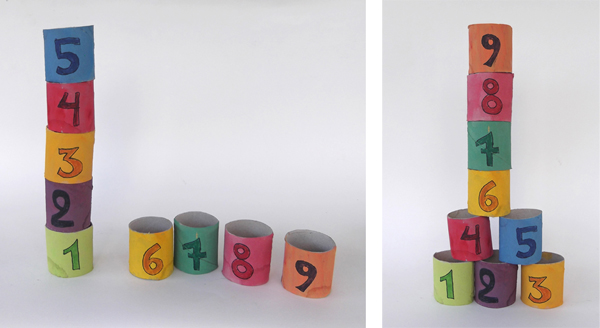 paper blocks, how to make toy blocks, learn maths, learn numbers,