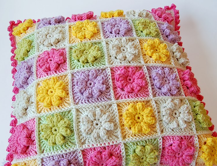 joined granny squares with single crochet.
