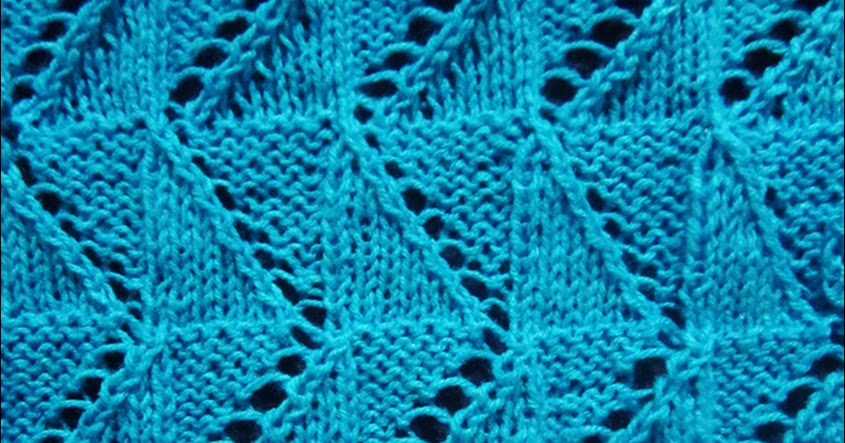 Lace Knitting Pattern 11: Pilsner Zigzag - Knitting Unlimited