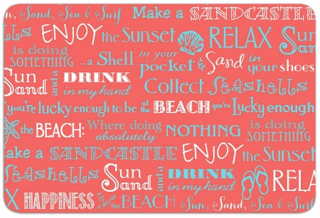 Beach Word Placemats