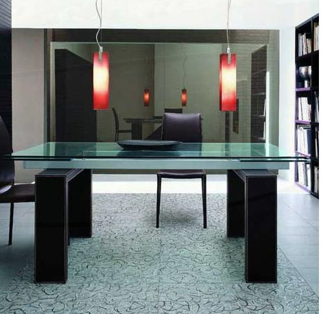 Modern Glass Dining Room Table modern glass dining table. aria rectangular glass dining table